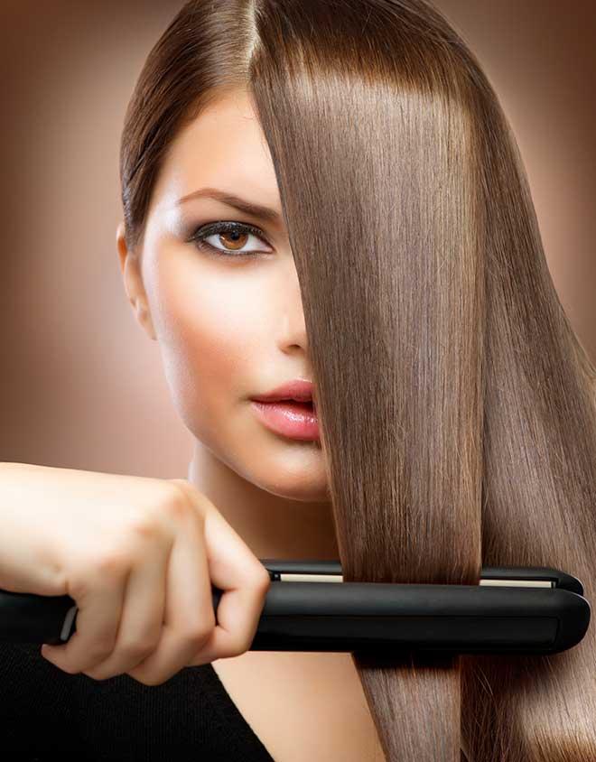 planchar el pelo